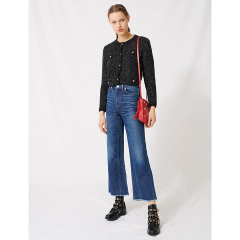 limited sale high-waisted wide-leg jeans - blue best price last chance
