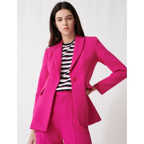last chance fuchsia tailored jacket - best price limited sale