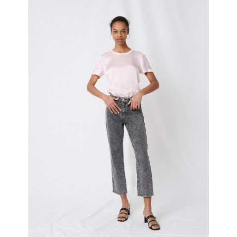 limited sale high-rise faded jeans - anthracite best price last chance