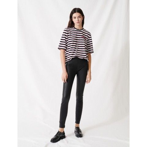 best price high waisted leather legging - black last chance limited sale