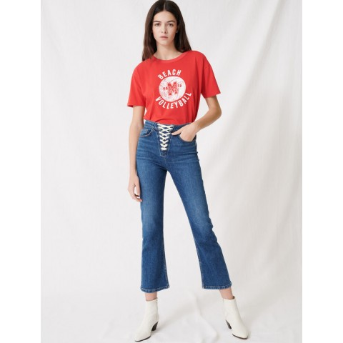 best price denim blue jeans with lace fastening - last chance limited sale