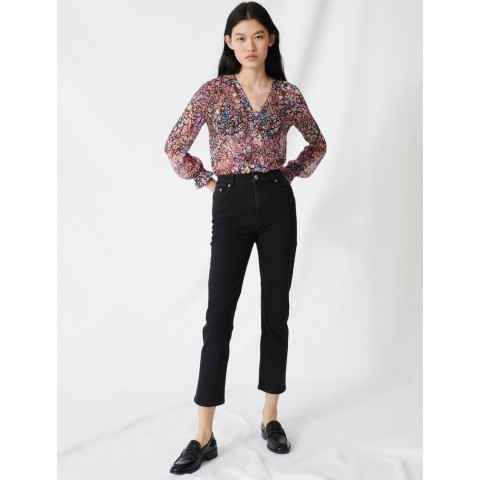 last chance mom-style high-waisted straight jeans - anthracite limited sale best price