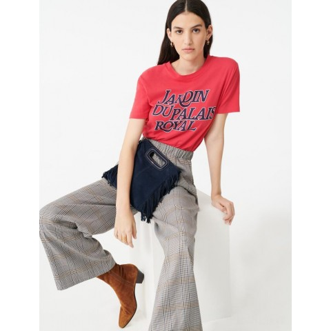 best price checked elasticated trousers - grey last chance limited sale