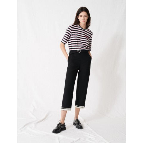 limited sale heart buckle trousers - black last chance best price
