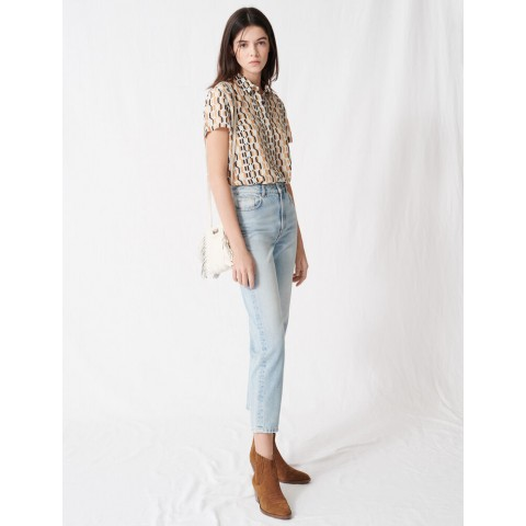 best price mom-style high-waisted jeans - blue sky last chance limited sale