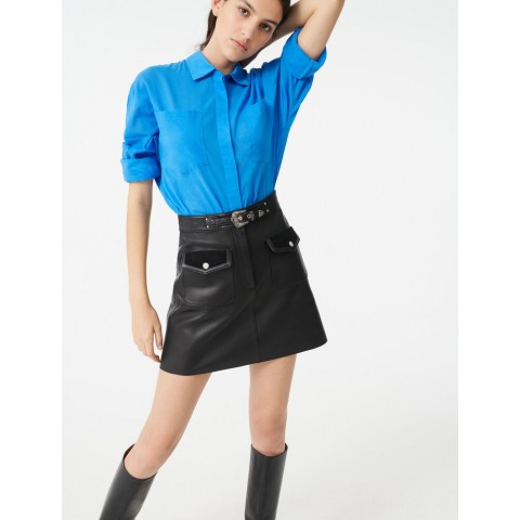 limited sale leather western skirt - black last chance best price