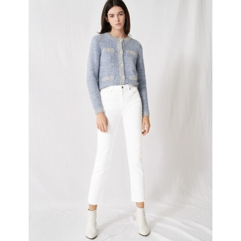 last chance wide straight-cut jeans - white limited sale best price