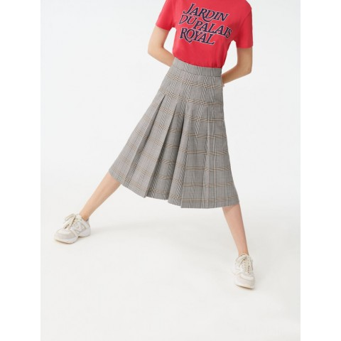 last chance checked bermuda-style pants - grey limited sale best price
