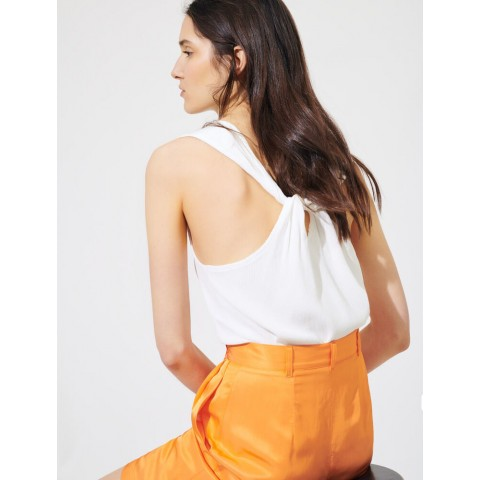 last chance sleeveless top - white limited sale best price
