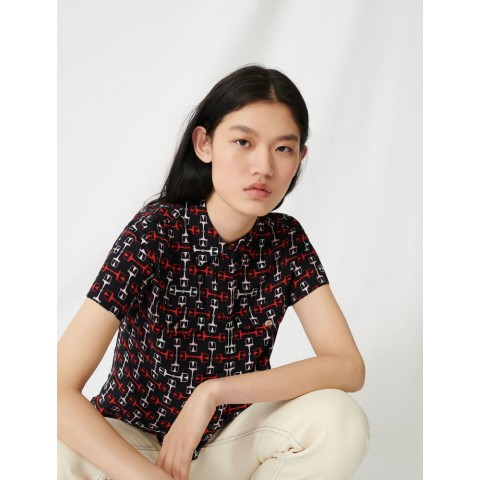 limited sale printed short-sleeved shirt - black/red last chance best price