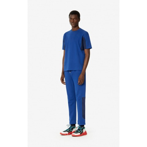 best price dual-material joggers - navy blue last chance limited sale