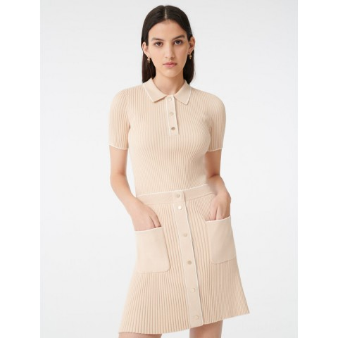 last chance close-fitting knit skirt - beige limited sale best price