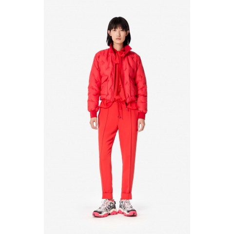 limited sale kenzo paris quilted down jacket - medium red last chance best price