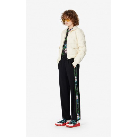 last chance fluid crêpe 'sea lily' trousers - lime limited sale best price