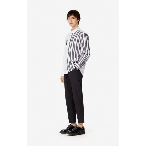 limited sale tapered trousers - black best price last chance