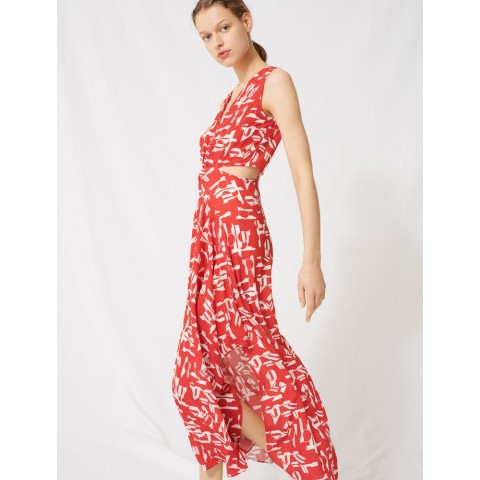 best price red dress with cutous - limited sale last chance