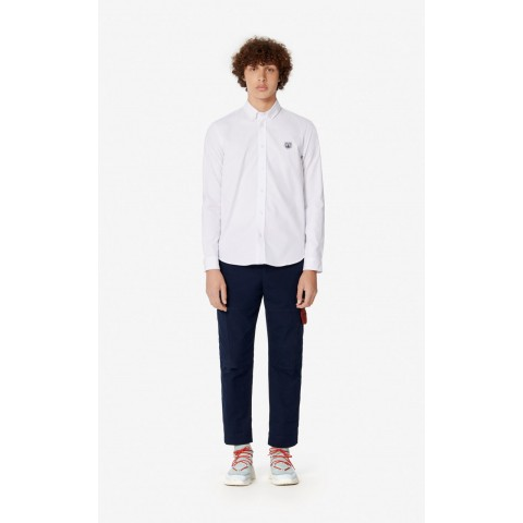 last chance casual tiger shirt - white limited sale best price