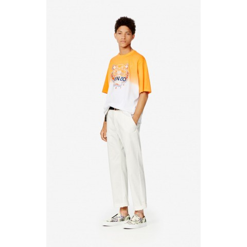 last chance belted straight-cut trousers - off white best price limited sale