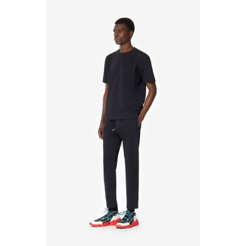 limited sale dual-material joggers - black last chance best price