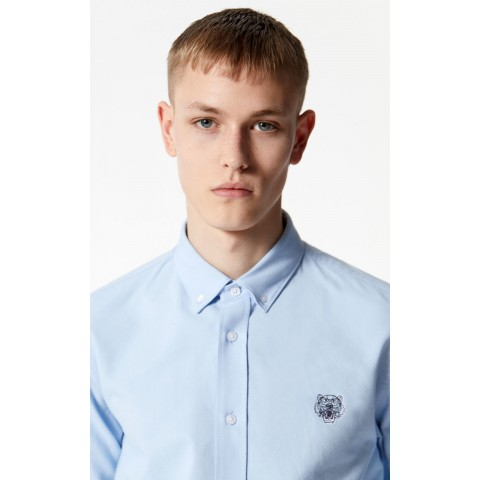 limited sale casual tiger shirt - light blue best price last chance