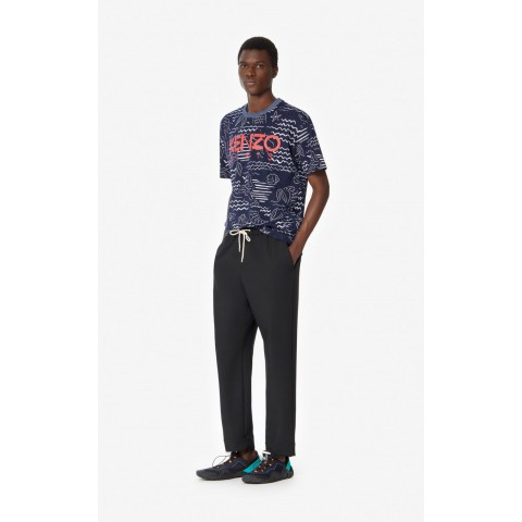 limited sale tapered trousers. - black last chance best price