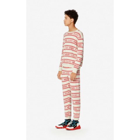 last chance kenzo paris trousers - off white best price limited sale
