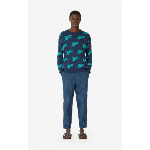 best price 'jumping tiger' jumper - midnight blue limited sale last chance