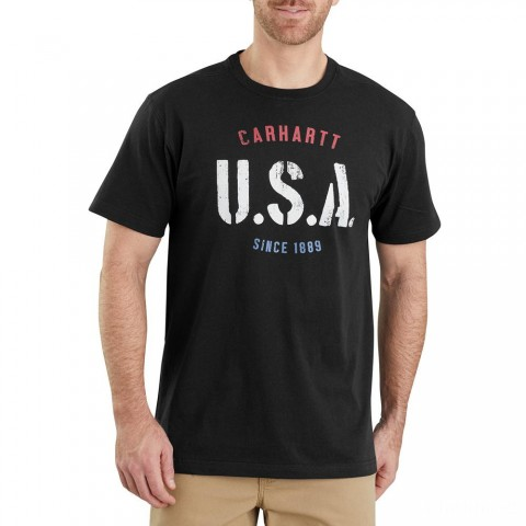 last chance carhartt 103566 - lubbock usa graphic short sleeve t-shirt black limited sale best price