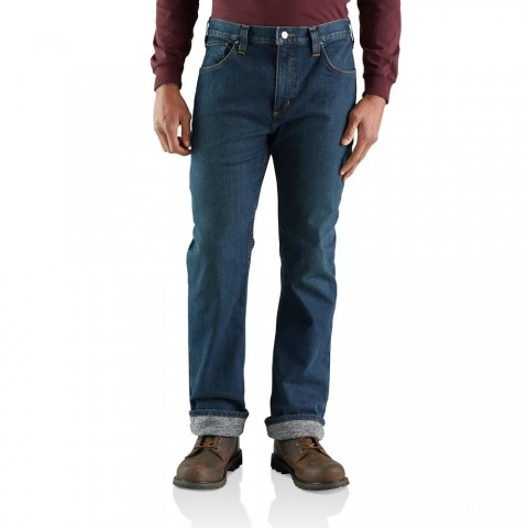 limited sale carhartt 103895 - flannel lined rugged flex® relaxed fit straight leg jean superior last chance best price