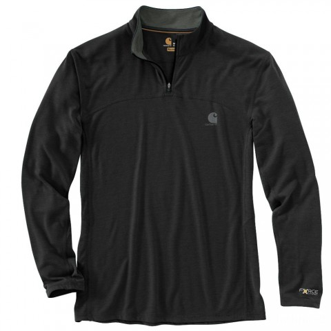 last chance carhartt 102051 - force extremes™ quarter zip shirt black limited sale best price