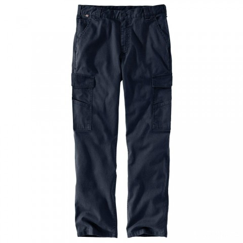 best price carhartt 104205 - flame-resistant rugged flex® canvas cargo pant navy last chance limited sale