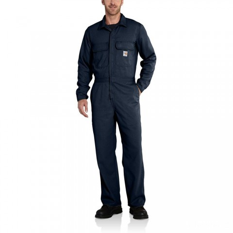 limited sale carhartt 100162 - flame-resistant work coverall dark navy last chance best price