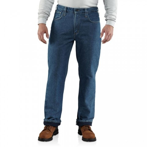 limited sale carhartt 100160 - flame-resistant lined relaxed fit jean midstone last chance best price
