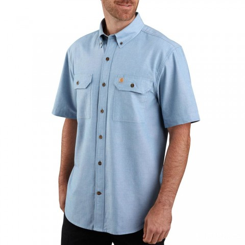 limited sale carhartt 104369 - original fit midweight shirt chambray blue last chance best price