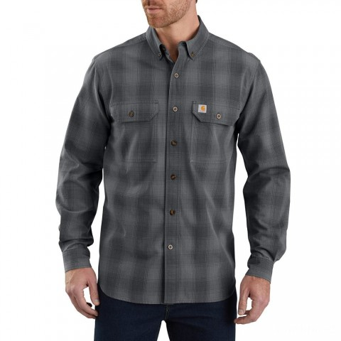limited sale carhartt 104142 - fort plaid long sleeve shirt shadow best price last chance