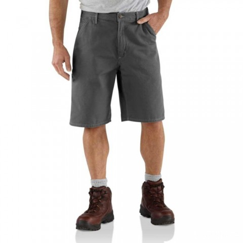 last chance carhartt b278 - canvas work short 11 inch charcoal best price limited sale
