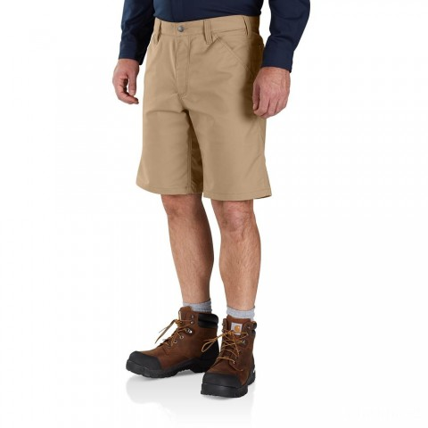 last chance carhartt 103111 - rugged professional™ series relaxed fit short 10 inch dark khaki limited sale best price