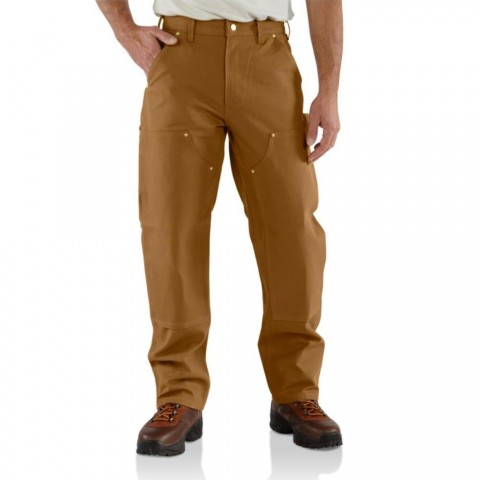 limited sale carhartt b01 - double front work loose fit pant brown best price last chance