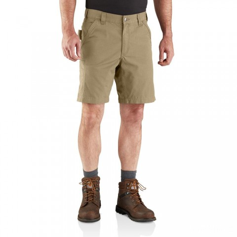 limited sale carhartt 104196 - force relaxed fit ripstop work short 8.5 inch dark khaki best price last chance