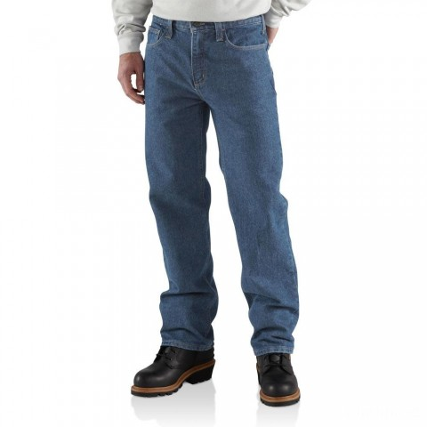 last chance carhartt frb004 - flame-resistant relaxed fit jean midstone limited sale best price