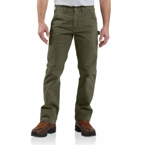 best price carhartt b324 - washed twill relaxed fit pant army green last chance limited sale