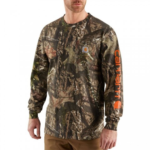 last chance carhartt 101776 - workwear graphic camo long sleeve t-shirt mossy oak break-up country limited sale best price