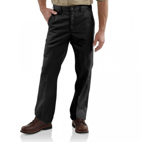 limited sale carhartt b290 - twill work relaxed fit pant black best price last chance