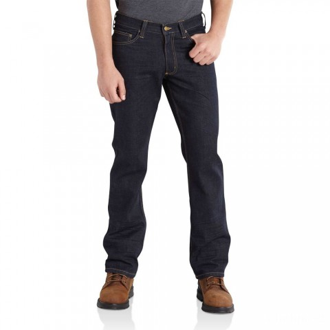best price carhartt 100613 - series 1889® relaxed-fit straight-leg jean clean rinse last chance limited sale
