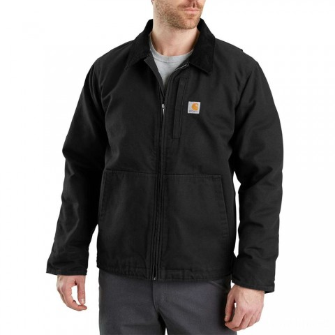 last chance carhartt 103370 - full swing® armstrong jacket fleece lined black limited sale best price