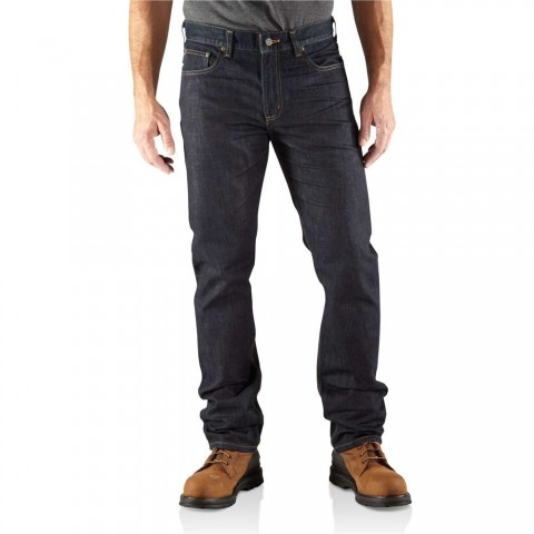 last chance carhartt 100198 - series 1889® straight-fit jean clean rinse best price limited sale