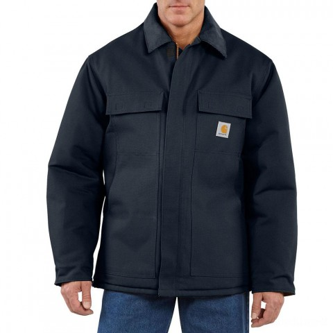 limited sale carhartt c003 - arctic traditional coat quilt lined dark navy last chance best price