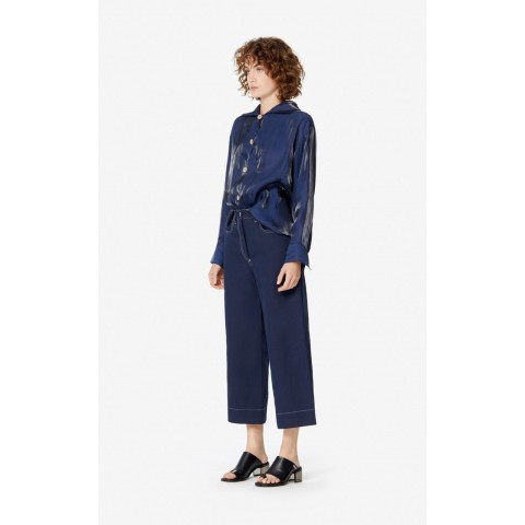 best price culotte pant - midnight blue last chance limited sale