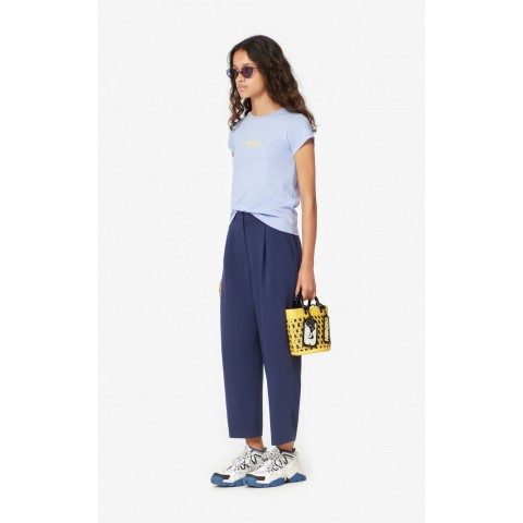 best price pleated trousers - midnight blue limited sale last chance