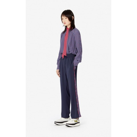 best price fluid crêpe 'sea lily' trousers - midnight blue limited sale last chance